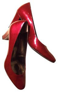 Etienne Aigner High Gloss Classic Candy Apple Red Pumps
