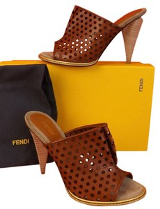Fendi Cognac Sandals