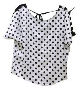 Ark & Co. Polka Dot Polka Dot & Co Size Small Cut Outs With Cut Outs Top White