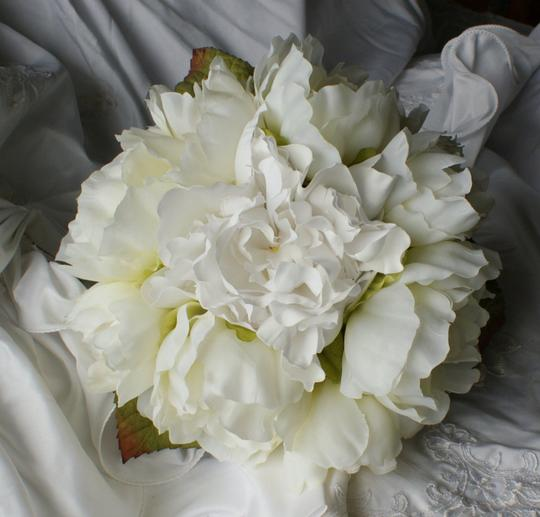 Ivory And White Peony Hand Tied Style Bridal Bridesmaid Bouquet Other
