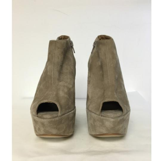Topshop Suede Wedge Ankle Beige Boots Image 1