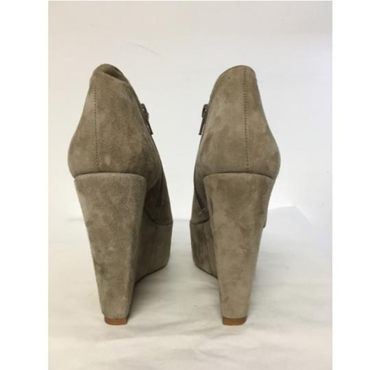 Topshop Suede Wedge Ankle Beige Boots Image 2