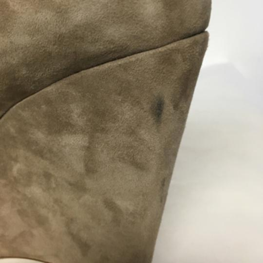Topshop Suede Wedge Ankle Beige Boots Image 5