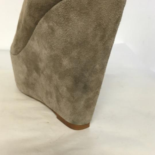 Topshop Suede Wedge Ankle Beige Boots Image 6