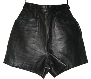Tannery West Leather Shorts black