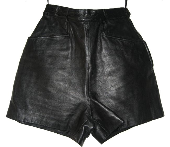 Tannery West Leather Mini/Short Shorts black