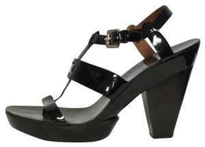Givenchy Patent Leather Sandal Black Sandals