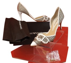 Emporio Armani Gray/Silver/White Pumps