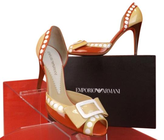 Preload https://img-static.tradesy.com/item/11032585/emporio-armani-beige-coralwhite-patent-leather-open-toe-bow-buckle-pumps-size-eu-38-approx-us-8-regu-0-1-540-540.jpg