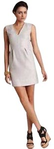 Diane von Furstenberg short dress Grey Sleeveless V-neck on Tradesy