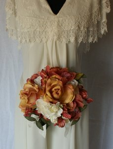 Rose Peach and Cream Silk Bouquet Other