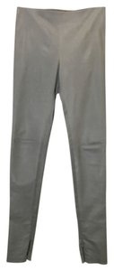 Balenciaga Lambskin Leggings Skinny Pants Gray