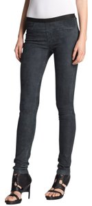 Helmut Lang Lamb Leather Legging Jeans Suede Skinny Pants