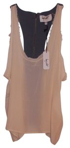 Hy & Dot Silk Raw Edge Sleeveless Trendy & Sz Large Top