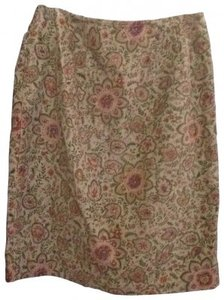 Talbots Casual Comfortable Skirt beige, coral, light green
