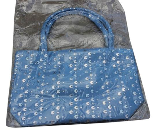Other Girls Blue Sequin Handbag Tote Style Bag NEW Sequined Purse