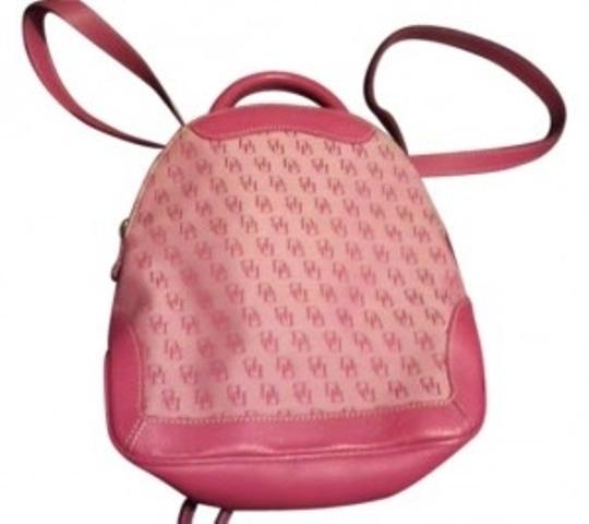 Preload https://img-static.tradesy.com/item/11034/dooney-and-bourke-and-leather-red-initial-fabric-backpack-0-0-540-540.jpg