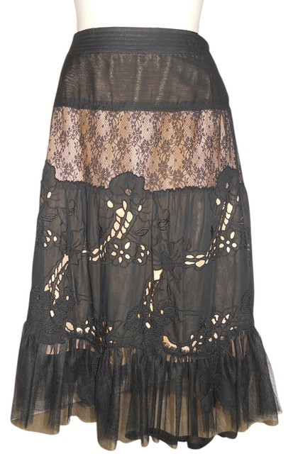 Preload https://img-static.tradesy.com/item/11034319/rebecca-taylor-black-lace-and-tulle-tiered-midi-skirt-size-4-s-27-0-1-650-650.jpg