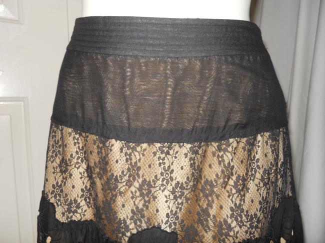 Rebecca Taylor Lace Tulle Tiered Boho Skirt black Image 2