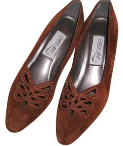 Fabulaire Suede Woman's Dress Brown (Rust) Pumps