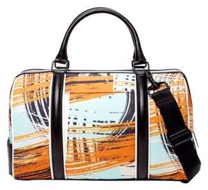 L.A.M.B. Satchel in Orange Black & Mint