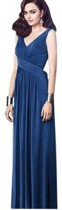 Dessy Full Length Sleeveless V-neck Dress