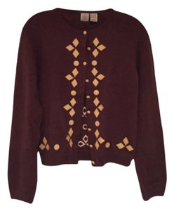 Anthropologie Applique Leather Sweater