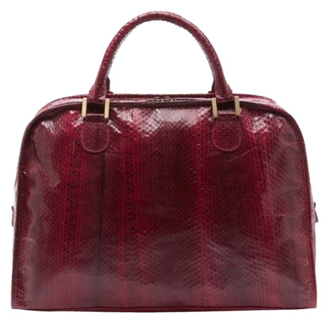 Item - Red Watersnake Leather Satchel