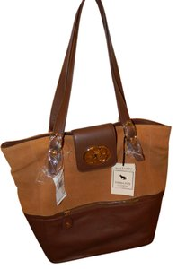 Emma Fox Leather Tote in Brown