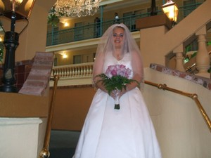 David's Bridal Halter Wedding Dress