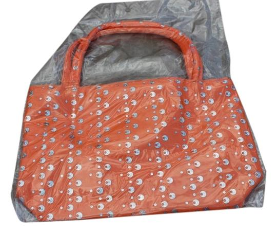Other Girls Orange Sequin Handbag Tote Style Bag NEW Sequined Purse