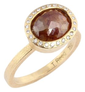 Todd Reed 18K GOLD OVAL RED/YELLOW DIAMOND RING