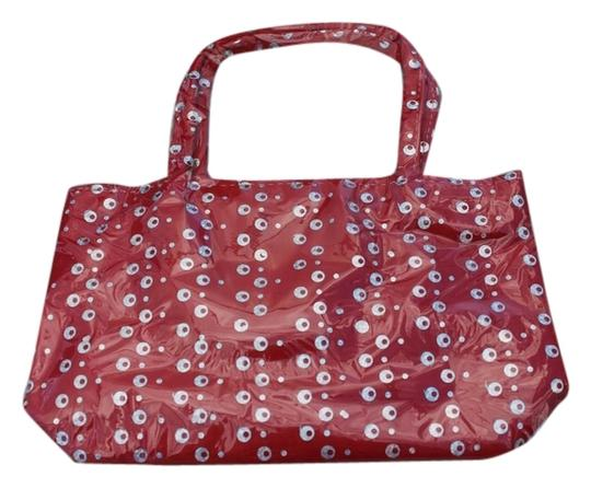 Other Girls Red Sequin Handbag Tote Style Bag NEW Sequined Purse