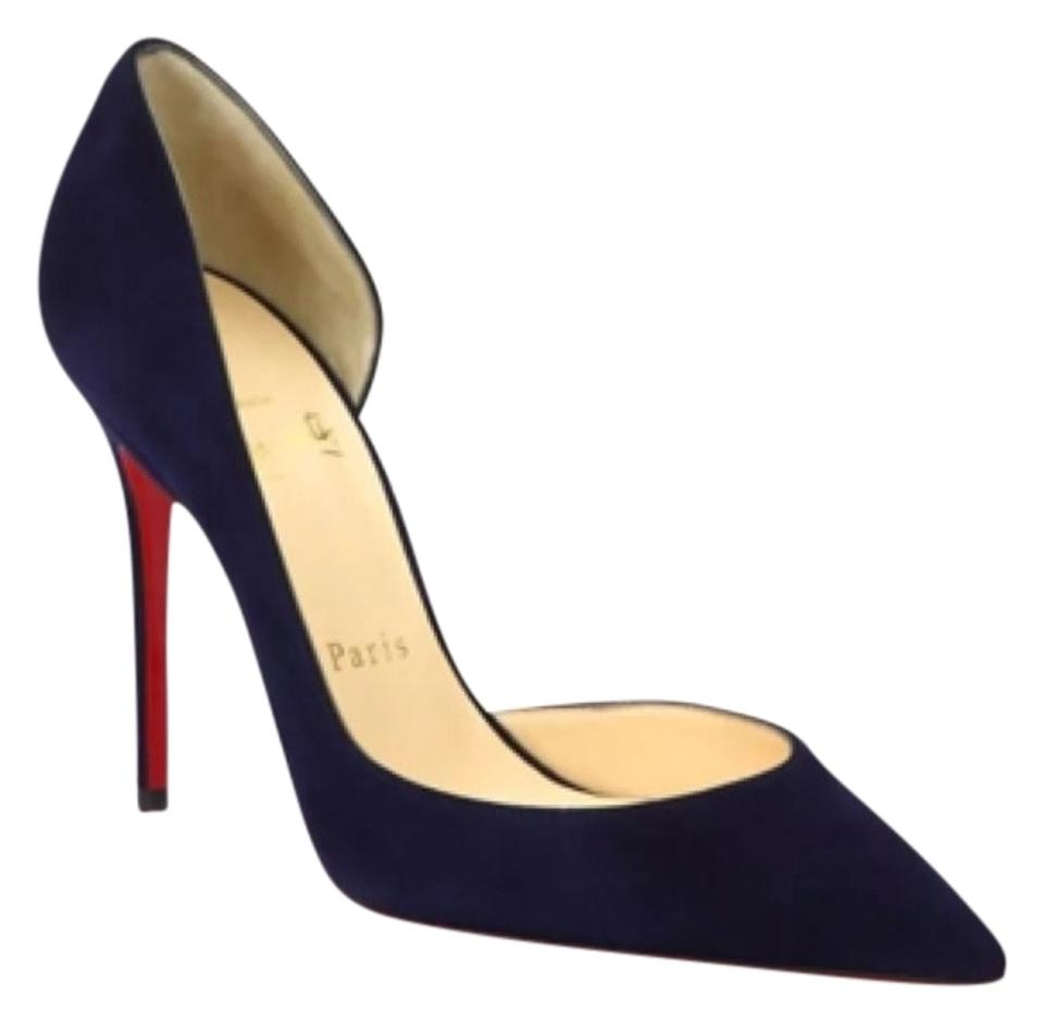 new arrivals c631e c54c0 Navy Blue Iriza Suede Pumps