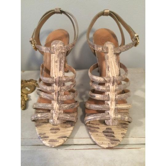 Tory Burch Snakeskin Sandals Image 1