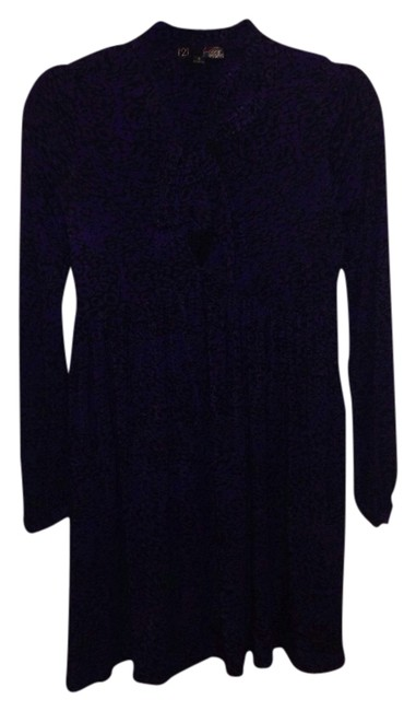Forever 21 short dress Black/Purple on Tradesy
