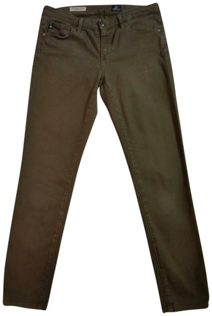 Item - Olive Green The Stevie Ankle Straight Leg Jeans Size 27 (4, S)