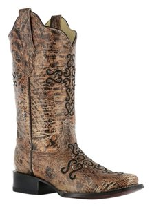 Corral Western Bronze and Black Boots