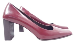 Coach Malorie Square Toe Cranberry Pumps