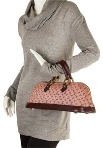 Louis Vuitton Mini Lin Alma Satchel in Burgundy and Pink
