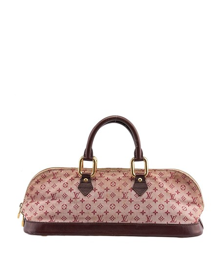 Louis Vuitton Mini Lin Alma Satchel in Burgundy and Pink Image 1