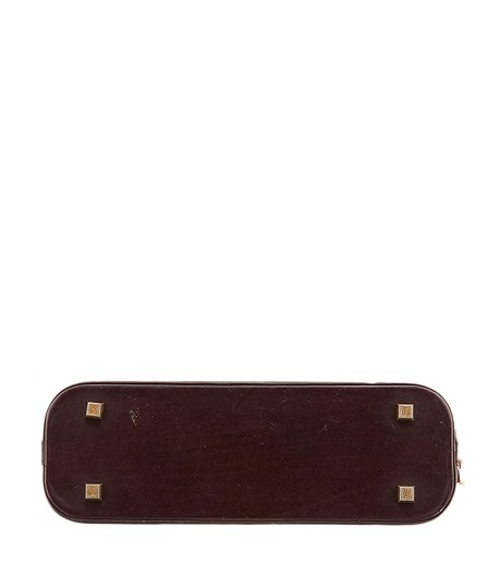 Louis Vuitton Mini Lin Alma Satchel in Burgundy and Pink Image 3