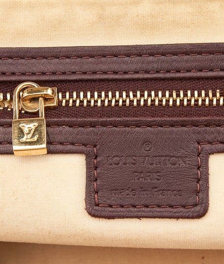 Louis Vuitton Mini Lin Alma Satchel in Burgundy and Pink Image 6