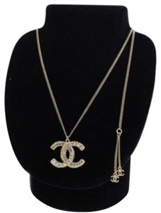 Chanel Chanel CC Classic Crystal Gold Necklace