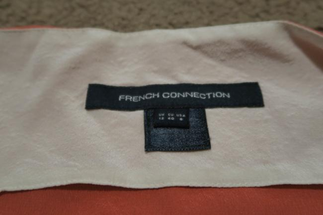 French Connection Silk Top Peach and cream Image 1
