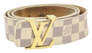 Louis Vuitton Damier Azur initials Belt sz 44