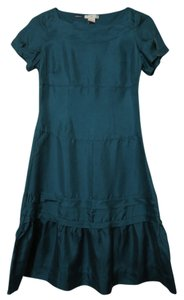 Gap short dress Teal Silk Tiered on Tradesy