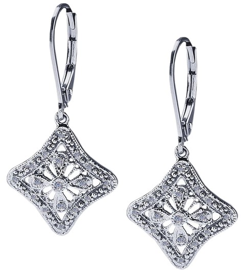"""Other BrianG Vintage Inspired Art Deco """"Duchess"""" Sterling Silver .50 ct Diamond Set Earrings @ BrianGdesigns"""