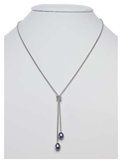 """Other 16"""" """"Charleston"""" Sterling Silver Y Necklace with Black Freshwater Pearls by BrianG"""