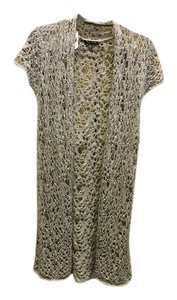Eileen Fisher Cap Sleeve Crochet Sweater Vest